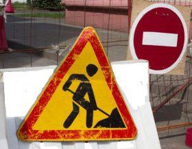 закрытие дороги в Гомеле