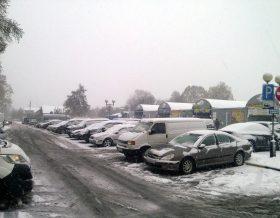 Первый снег в Гомеле
